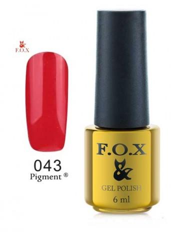 Гель лак FOX 034 Pigment красная эмаль