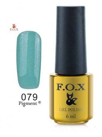 Гель лак FOX 079 gold Pigment трилистник крайола