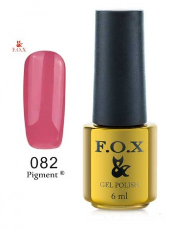 Гель лак FOX 082 бежево-розовый темный