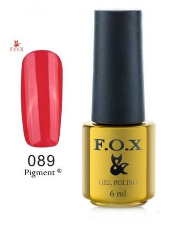Гель лак FOX 089 красно-малиновый