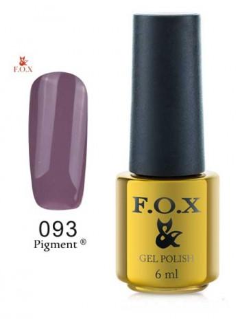 Гель лак FOX 093 gold Pigmentбледно-фиолетовый