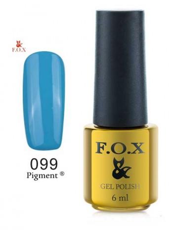 Гель лак FOX 099 gold Pigment небесно голубой