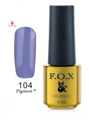 Гель лак FOX 104 нежно-фиолетовый