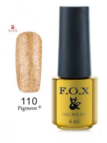 Гель лак FOX 110 желтое золото