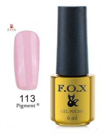 Гель лак FOX 113 очень светло пурпурный
