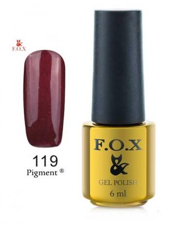 Гель лак FOX 119 коричневый перламутровый