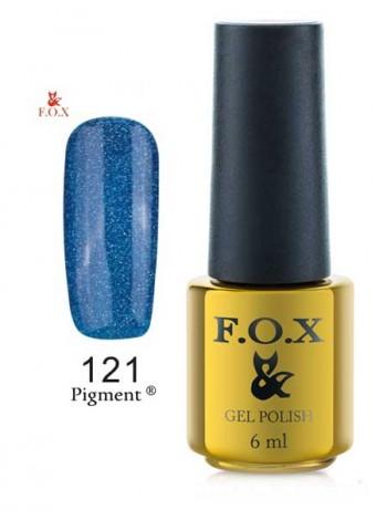 Гель лак FOX 121 летний синий