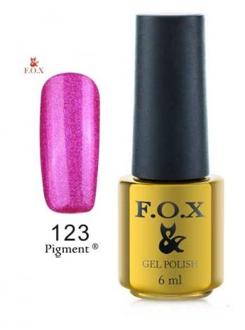 Гель лак FOX 123 Pigment насыщенный розовый