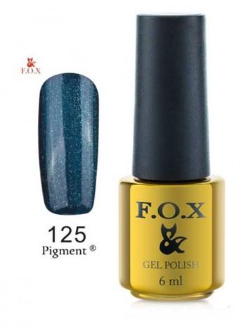 Гель-лак F.O.X 125 gold Pigment цвета морской волны