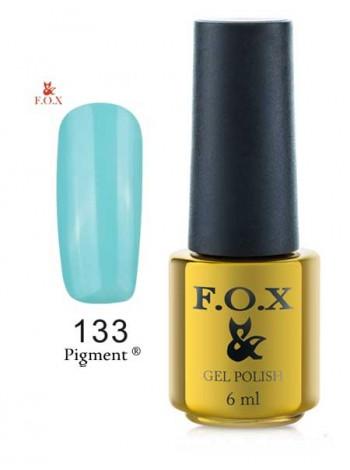 Гель лак FOX 133 gold Pigment голубая мята