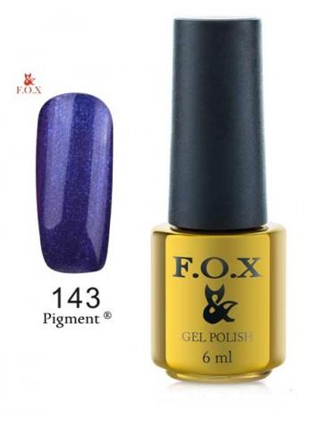 Гель лак FOX 143 gold Pigment фиолетово-синий