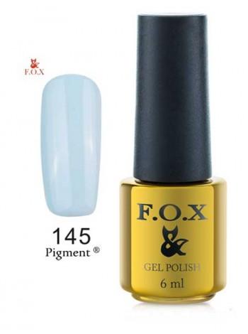 Гель лак FOX 145 нежно-голубой