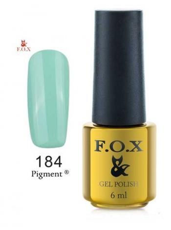 Гель лак FOX 184 gold Pigment светлый серо-синий