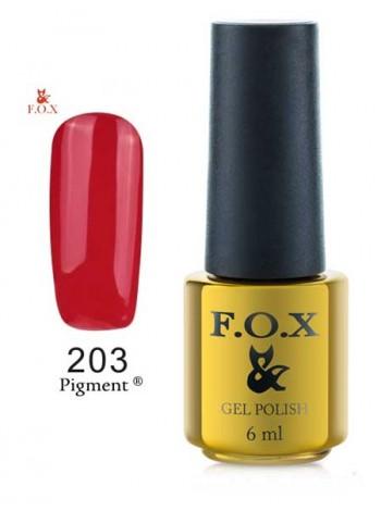 Гель лак FOX 203 gold Pigment люминесцентно-красный