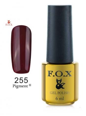 Гель лак FOX 255 плотный вишневый