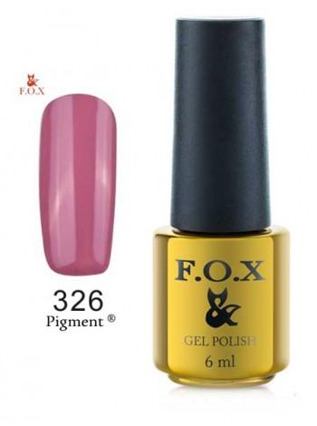 Гель лак FOX 326 gold Pigment фанданго