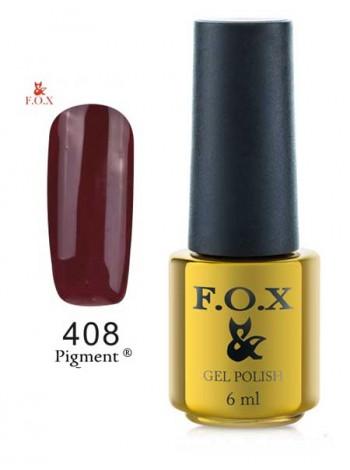 Гель лак FOX 408 Gold Pigment красно-коричневый