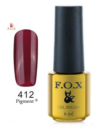Гель лак FOX 412 перламутрово-рубиновый