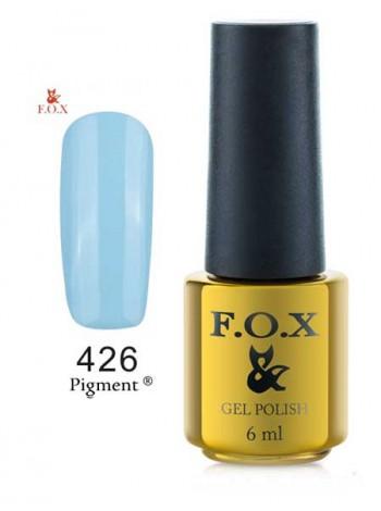 Гель лак FOX 426 Pigment небесно-голубой