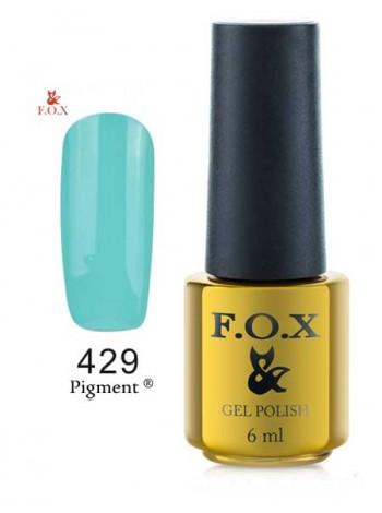 Гель лак FOX 429 темно-зеленая мята