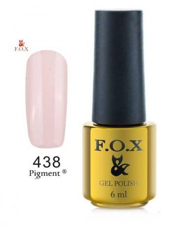 Гель лак FOX 438 gold Pigment белый антик