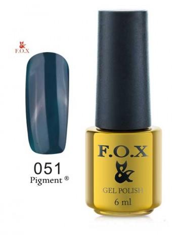 Гель лак FOX 051 темный бутылочно-зеленый