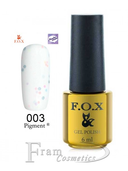 003 Гель лак FOX Masha Create (белый, йогурт) 6ml