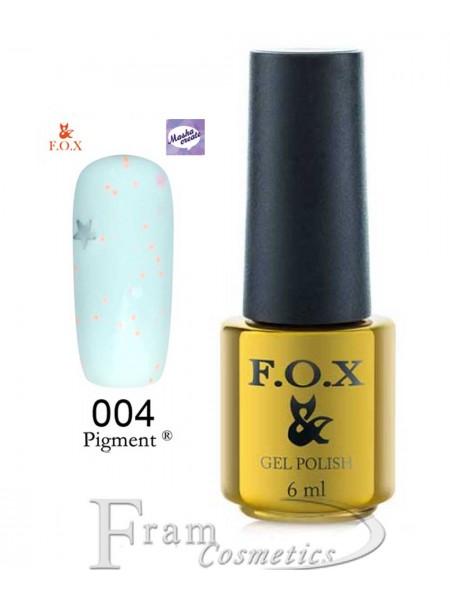 004 Гель лак FOX Masha Create (голубой, йогурт) 6мл