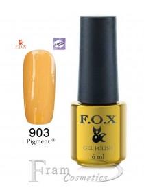 903 Гель лак FOX Masha Create (желтый, эмаль) 6ml