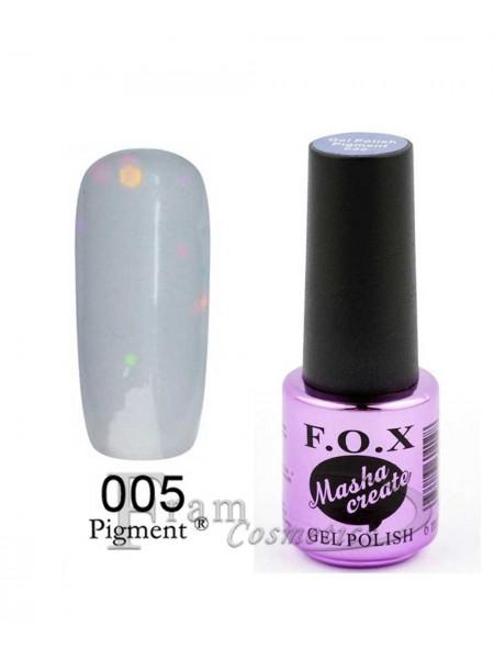 005 Гель лак FOX Masha Create (фиолетово-серый, йогурт) 6ml