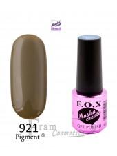 Гель лак FOX Masha Create 921 коричневый