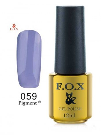 Гель лак FOX 059 Pigment сиреневая эмаль