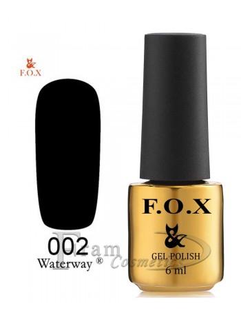 Гель-лак FOX WaterWay 002 черный