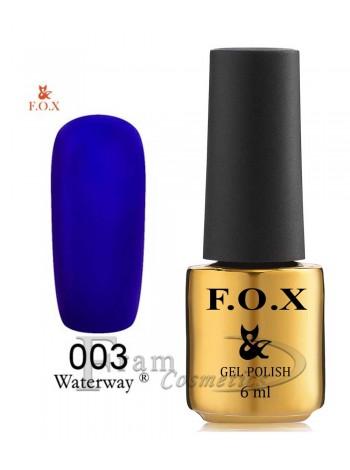 Гель-лак FOX WaterWay 003 cиний