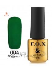 Гель-лак FOX WaterWay 004 зеленый