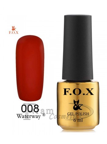 Гель-лак FOX WaterWay 008 глубокий красно-оранжевый