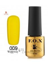 Гель-лак FOX WaterWay 009 транспортно желтый