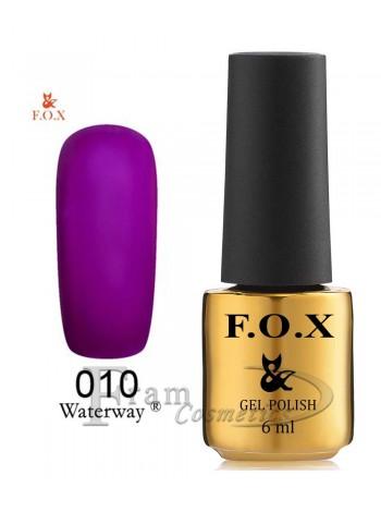 Гель-лак FOX WaterWay 010 темный пурпурно-фиолетовый
