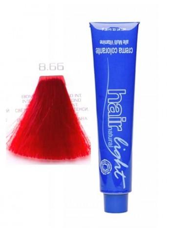 Крем-краска Hair Company Hair Light 8/66 светло-русый красно-пламенный интенсивный