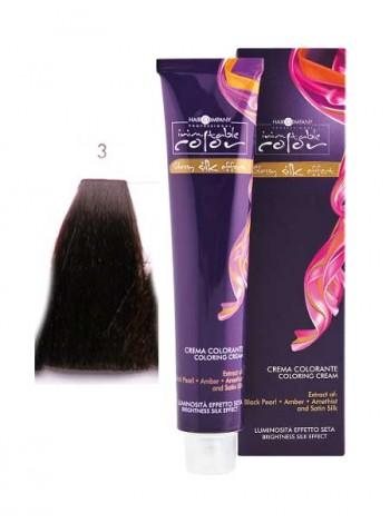 Крем краска Hair Company Inimitable Color 3 темно-каштановый