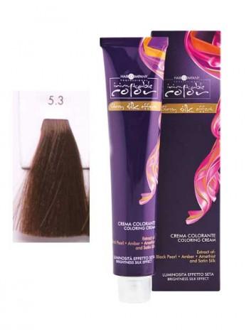 Крем краска Hair Company Inimitable Color 5.3 светлый золотистый каштан