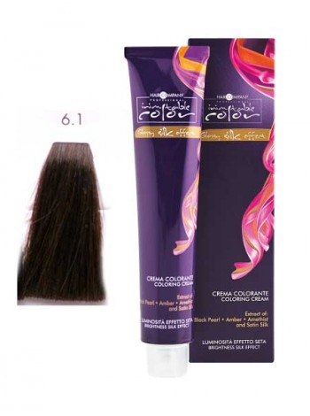 Крем краска Hair Company Inimitable Color 6.1 темно-русый натуральный пепельный