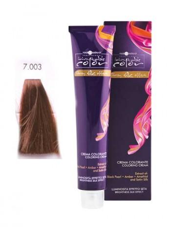 Крем краска Hair Company Inimitable Color 7/003 карамельный блондин