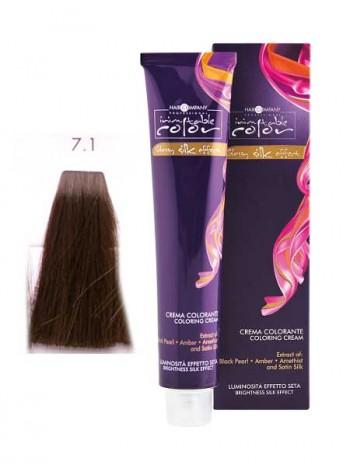Крем краска Hair Company Inimitable Color 7/1 пепельный блондин