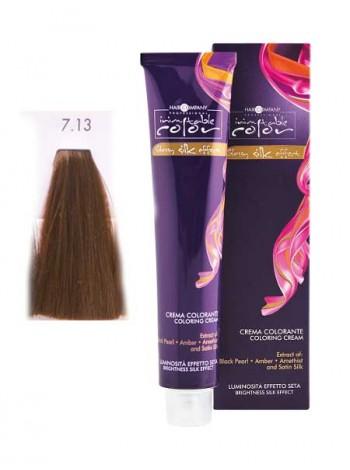 Крем краска Hair Company Inimitable Color 7/13 холодный каштан
