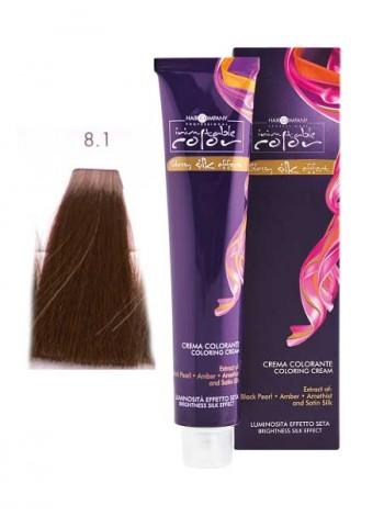 Крем краска Hair Company Inimitable Color 8/1 светлый пепельный блондин