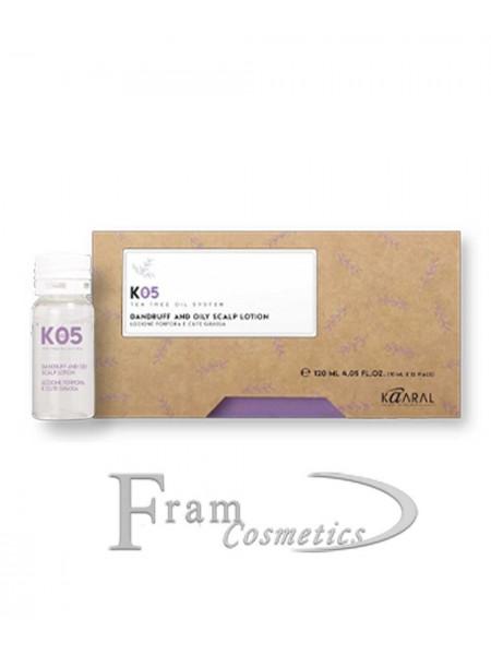 Лосьон от перхоти для жирной кожи головы Kaaral K05