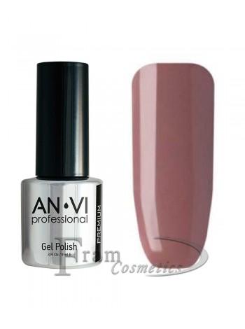 """Гель лак ANVI №021 """"розово-серо-коричневый"""""""