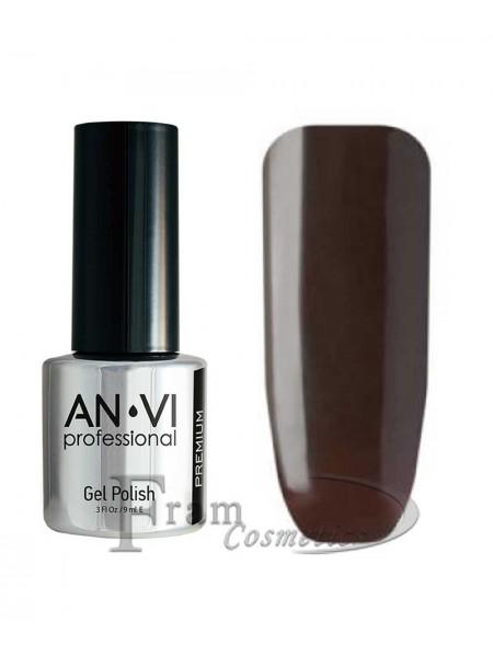 """Гель лак ANVI №027 """"темный серо-коричневый"""""""