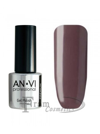"Гель лак ANVI №029 ""темный пурпурно-серый"""